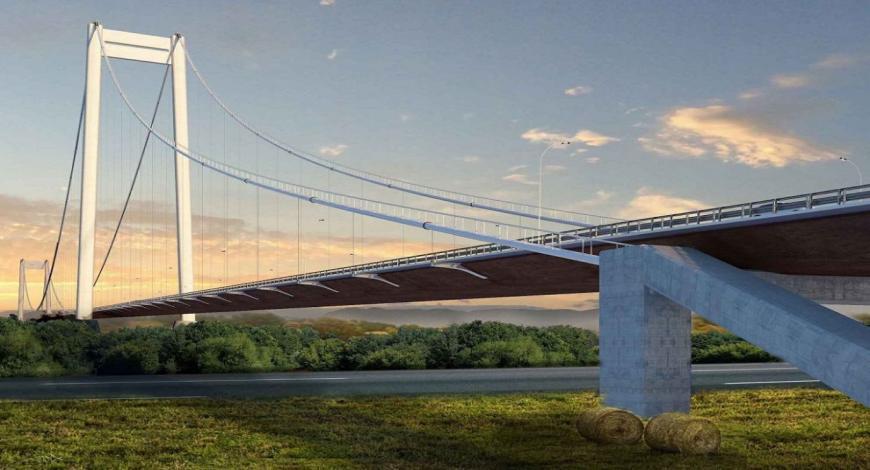 Realizzazione del ponte sospeso sul Danubio in Romania per Astaldi