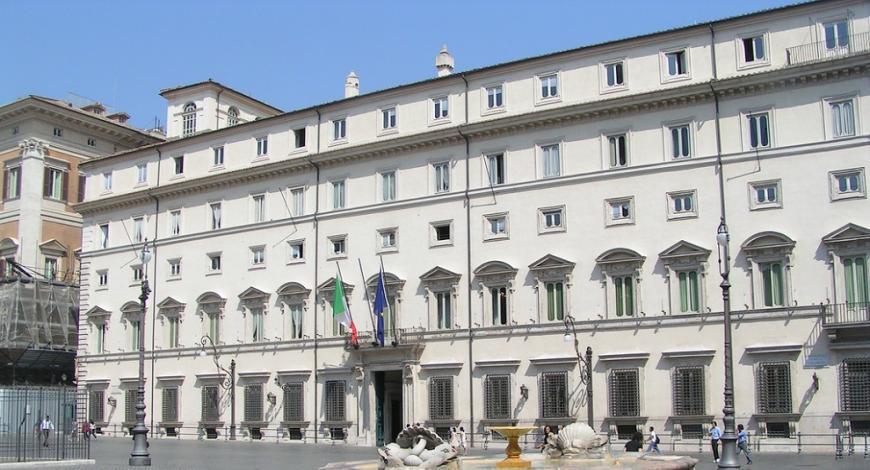 Roma: gara servizi tecnici verifica sismica Palazzo Chigi e Palazzo Madama