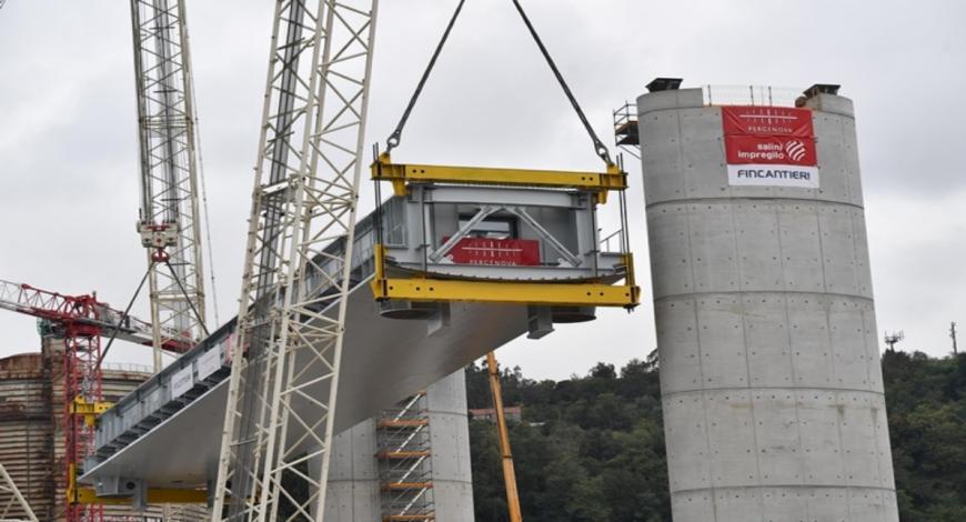 Genova: varato il terzo impalcato del nuovo ponte